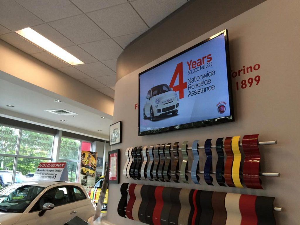 Digital Displays at Car Dealership