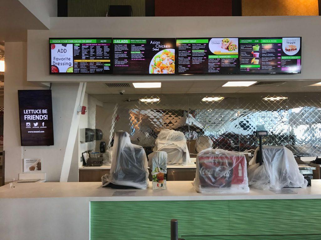 Tossed Restaurant Digital Menu Boards in Miami